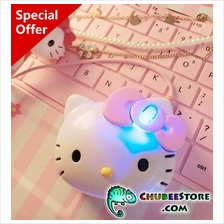 Hello Kitty cat cartoon USB optical computer mouse