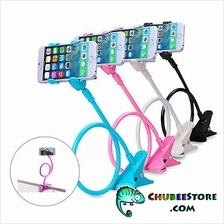 Lazy Bed Bracket phone holder selfie camera stand-plastic double clip