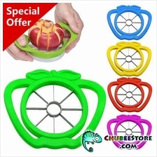 Plastic holder stainless steel apple pear fruit corer slicer /cutter