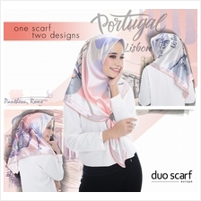 [RAYA SALE] DUO SCARF EUROPE A3 PREMIUM 2 DESIGNS IN 1 TUDUNG / HIJAB - FREE B)