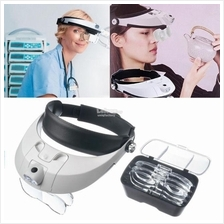 1X - 3.5X Head Band Headset LED Magnifier Magnifying Loupe Glass