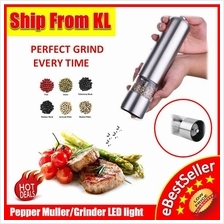 Stainless Steel Battery Operated Pepper Muller Grinder Adjustable Grai
