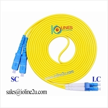 SC-LC Single Mode 3m 9/125 duplex fiber optic jumper cable patch cord Gigabit