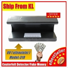 Currency Money Detector counterfeit LED UV light- Model 318