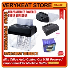 Mini Office Auto Cutting Cut USB Powered Paper Shredder Machine Cutter