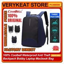 100% Coolbell Waterproof Anti Theft Backpack Bobby Laptop Macbook Bag