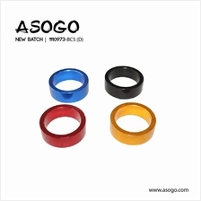 1pc Bicycle Bike Alloy Headset Spacer H.10mm x 25.4mm 1110973-BCS (D)