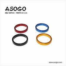 1pc Bicycle Bike Alloy Headset Spacer H.5mm x 28.6mm 1110974-BCS (B)