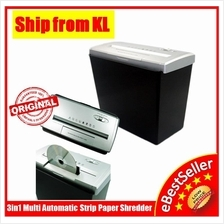 3in1 Multi Functions Automatic Strip Cut Paper Shredder