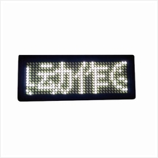 LED Name Tag Display (White)