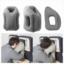 New Inflatable Air Fill Travel Airplane Neck Pillow Cushion Support