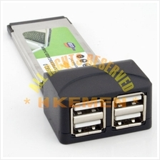 ExpressCard / Express Card 34mm Type II to 4x USB2.0 Ports