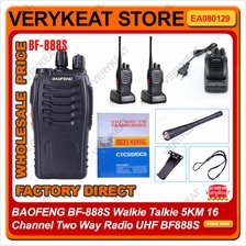 BAOFENG BF-888S Walkie Talkie 5KM 16 Channel Two Way Radio UHF BF888S