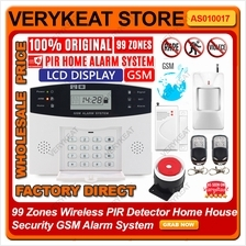 99 Zones Wireless PIR Detector Home House Security GSM Alarm System