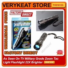 As Seen On TV Military Grade Zoom Tac Light Flashlight 22X Brighter