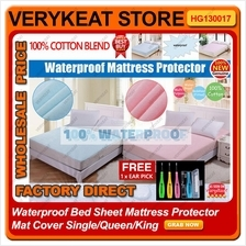 Waterproof Bed Sheet Bedsheet Protector Mat Cover Single/Queen/King