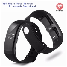 V66 Heart Rate Monitor Bluetooth Fitness Smartband (Black)