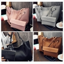 2 in 1 Large Tote Shoulder + Pouch Bag (6 colours)