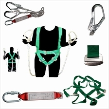 Bigtools Full Body Safety Harness Set Built-In Double Lanyard With Carabiner