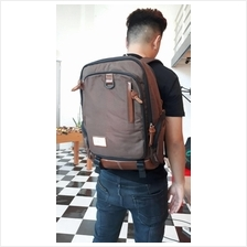 Korean Antler Brown Casual College Laptop Splashproof Backpack Bag
