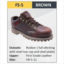 Hercules Safety Shoes First Grade Cow Leather  Men Boot SKU-FS5