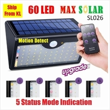 MaxSolar SL026 Solar Powered Motion Sensor 60 x LED Garden Solar Light