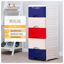 531676252917 plastic storage cabinet- 5 level