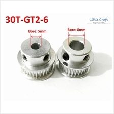 GT2 Timing Pulley 30 Teeth Bore: 5mm / 8mm For 3D Printer, CNC