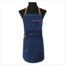 Thick Sleeveless Korean Style Denim Jeans Apron for Barber Kitchen Use