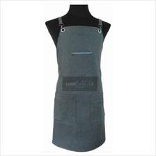 Thick Sleeveless Korean Style Denim Jeans Apron for Barber & Gardener