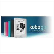 Kobo Glo or Glo HD Day and Night ebook Reader (Black, Blue, Pink)