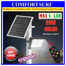 20W 40x LED Solar Street Light Flood light Sensor Outdoor Garden Lamp