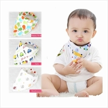 (1 Set - 5 Pcs) Newborn Baby Soft Cotton Triangle Bibs Cute Cartoon