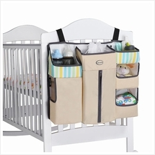 High Quality Baby Cot Bed Diaper Hanging Organizer Storage Bag