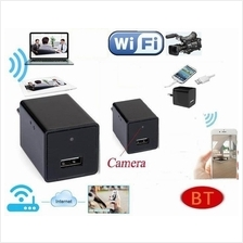 HD Spy Wifi AC Adapter Hidden Camera USB Phone Charger Camera