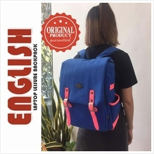 English Student College Travel Laptop Backpack Blue Fluorescent