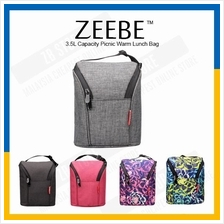 ZEEBE 4L Large Insulated Thermal Lunch Box Warm Cooler Food Bag 1936