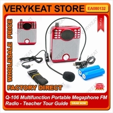Q-106 Multifunction Portable Megaphone FM Radio - Teacher Tour Guide