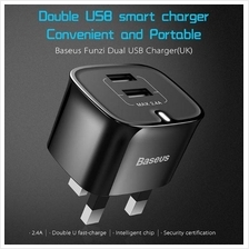 BASEUS Samsung XIAOMI Dual USB 2.4A HOME Travel Wall Adapter Charger