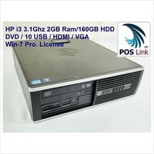 HP Compaq Core i3 6200 Pro.Refurbished PC,Win 7 Pro.License