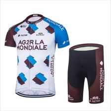 2017 Pro Team AG2R Cycling Jersey Bicycle Clothing Short Sleeve set