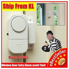 Window Door Entry Wireless Alarm System Detector Protection Security