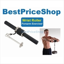 Wrist Roller Curl Curler Grip Arm Forearm Exerciser Strength Back Hand