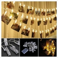 Battery Power 5M 50 LED Photo Peg Clip Fairy String Light Hanging Card