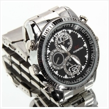 SC 16GB Waterproof Spy Pinhole Stainless Steel Watch Camera