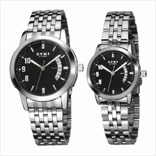 EYKI E-TIMES UNIQUE Couple Stainless Steel Watch W8408BL Black 1 pair