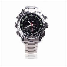 IR Night Vision HD SPY Waterproof Steel Watch 4GB Camcorder 1080P