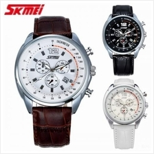 SKMEI 6852 Men''s Quartz Calendar Leather Strap Watch