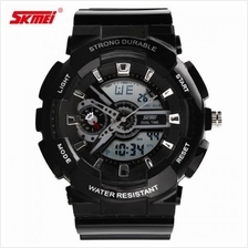 SKMEI 0929 Unisex LED Analog Digital Alarm Stopwatch Wristwatch