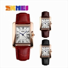 SKMEI 1085 Ladies''s Classic Rectangle Dial Leather Watch
